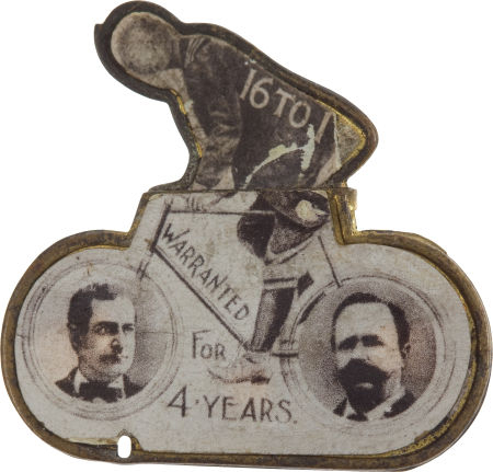 Election of 1896 William Jennings Bryan Bicycle Buttons