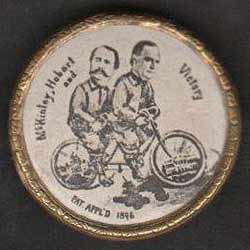 Election of 1896 William McKinley Bicycles Buttons