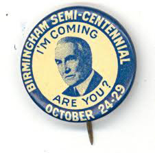 Election of 1920 Warren G. Harding Birmingham Semi - Centennial Buttons