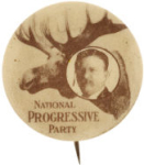 Election of 1912 Theodore Roosevelt Bull Moose Buttons