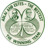 Election of 1956 Adlai Stevenson Clovers Buttons