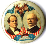 Election of 1900 William Jennings Bryan Cornucopia of Silver Buttons