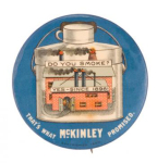 Election of 1900 William McKinley Do You Smoke? Buttons