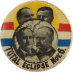 Election of 1900 William Jennings Bryan Eclipse Buttons