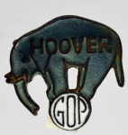 Election of 1928, Election of 1932 Herbert Hoover Republican Elephant Buttons
