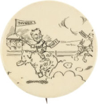 Election of 1908 William Howard Taft Elephant Race Buttons