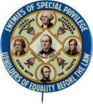 Election of 1908 William Jennings Bryan Enemies of Special Privilege Buttons