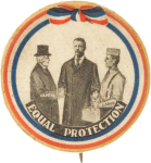 Election of 1904 Theodore Roosevelt Equal Protection  Buttons