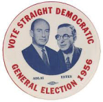 Election of 1956 Adlai Stevenson Jugate Buttons