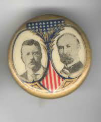 Election of 1904 Theodore Roosevelt Jugate Buttons