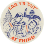 Election of 1940 Wendell L. Willkie F.D.R. YR Out At Third Buttons