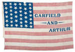 James Garfield 1880 Political Campaign Flag