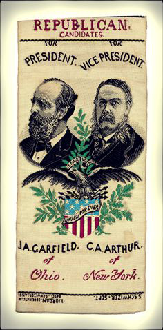 James Garfield Political Ribbons