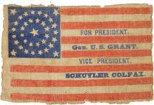 Ulysses S. Grant 1868 Political Campaign Flag