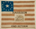 William Henry Harrison 1840 Political Campaign Flag