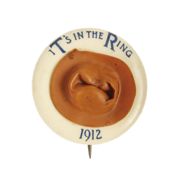 Election of 1912 Theodore Roosevelt Hat in the Ring Buttons