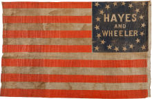 Rutherford B.  Hayes 1876 Political Campaign Flag