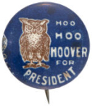 "Election of 1928 Herbert Hoover ""Hoo"" Buttons"