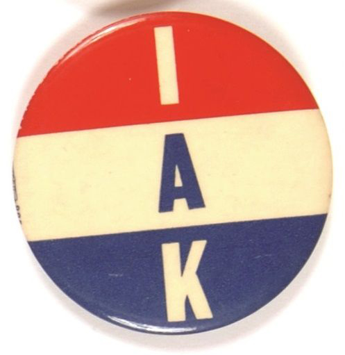 Election of 1960 John F. Kennedy IAK Buttons