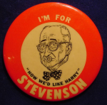 Election of 1952 Adlai Stevenson How We'd Like Harry Buttons