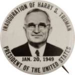 Inauguration of 1949 Harry Truman Inauguration Buttons