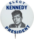 Election of 1960 John F. Kennedy Portrait Buttons