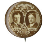 Election of 1912 Theodore Roosevelt Jugate Buttons