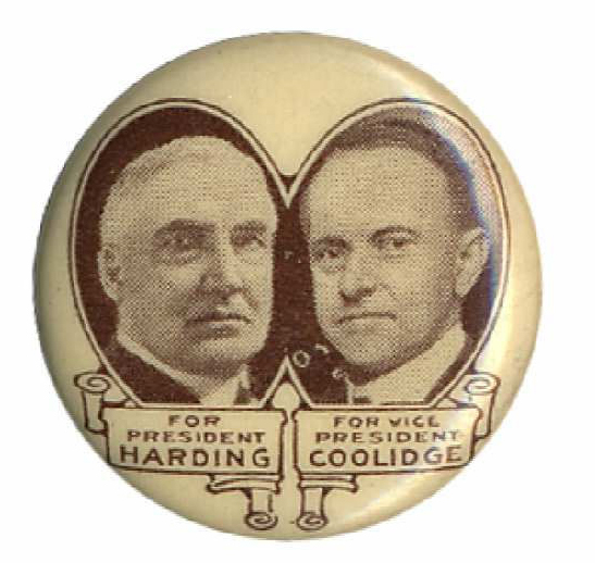 Election of 1924 Calvin Coolidge Jugate Buttons