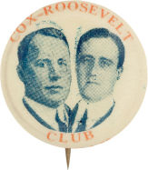Election of 1920 James M. Cox Jugate Buttons