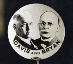 Election of 1924 John W. Davis Jugate Buttons