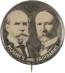 Election of 1916 Charles Evans Hughes Jugate Buttons