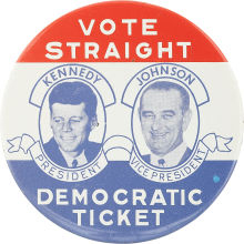 Election of 1960 John F. Kennedy Jugate Buttons