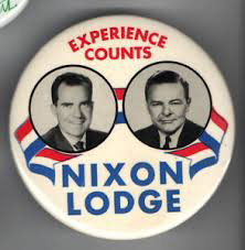 Election of 1960 Richard Nixon Jugate Buttons