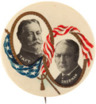 Election of 1908 William Howard Taft Jugate Buttons