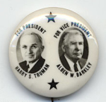 Election of 1948 Harry Truman Jugate Buttons