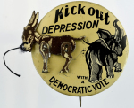 Election of 1932 Franklin D. Roosevelt Kick Out Depression Buttons