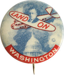Election of 1936 Alfred Landon Land On Washington Buttons