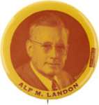 Election of 1936 Alfred Landon Portrait Buttons
