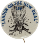 Election of 1936 Alfred Landon Landon On the New Deal Buttons
