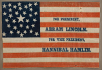 Abraham Lincoln 1860 Political Campaign Flag