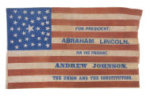 Abraham Lincoln  1864 Political Campaign Flag