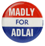 Election of 1952, Election of 1956 Adlai Stevenson Madly for Adlai Buttons