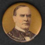 Election of 1896 William McKinley Portrait Buttons