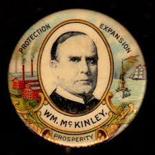 Election of 1900 William McKinley Portrait Buttons