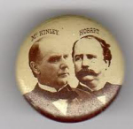 Election of 1896 William McKinley Jugate Buttons