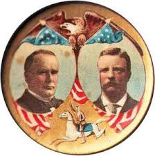 Election of 1900 William McKinley Jugate Buttons