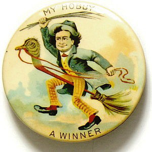 Election of 1896 William Jennings Bryan My Hobby Buttons
