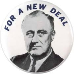 Election of 1932 Franklin D. Roosevelt New Deal Buttons