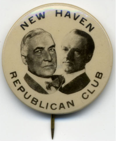 Election of 1924 Calvin Coolidge New Haven Republican Club Buttons