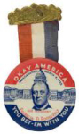 Inauguration of 1933 Franklin D. Roosevelt Okay America Buttons